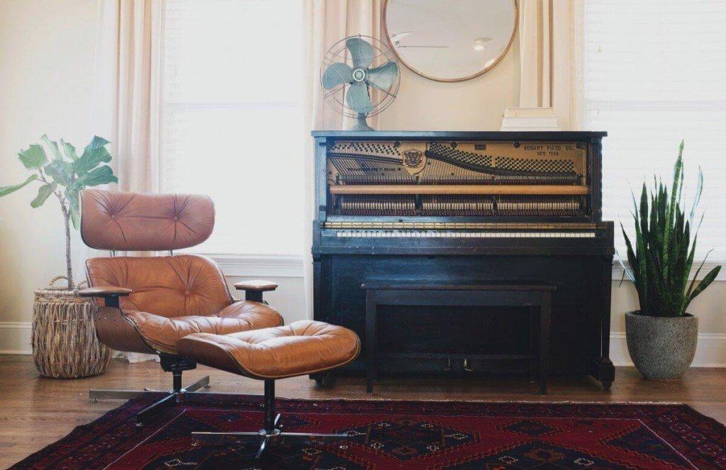 фортепьяно в интерьере фото
