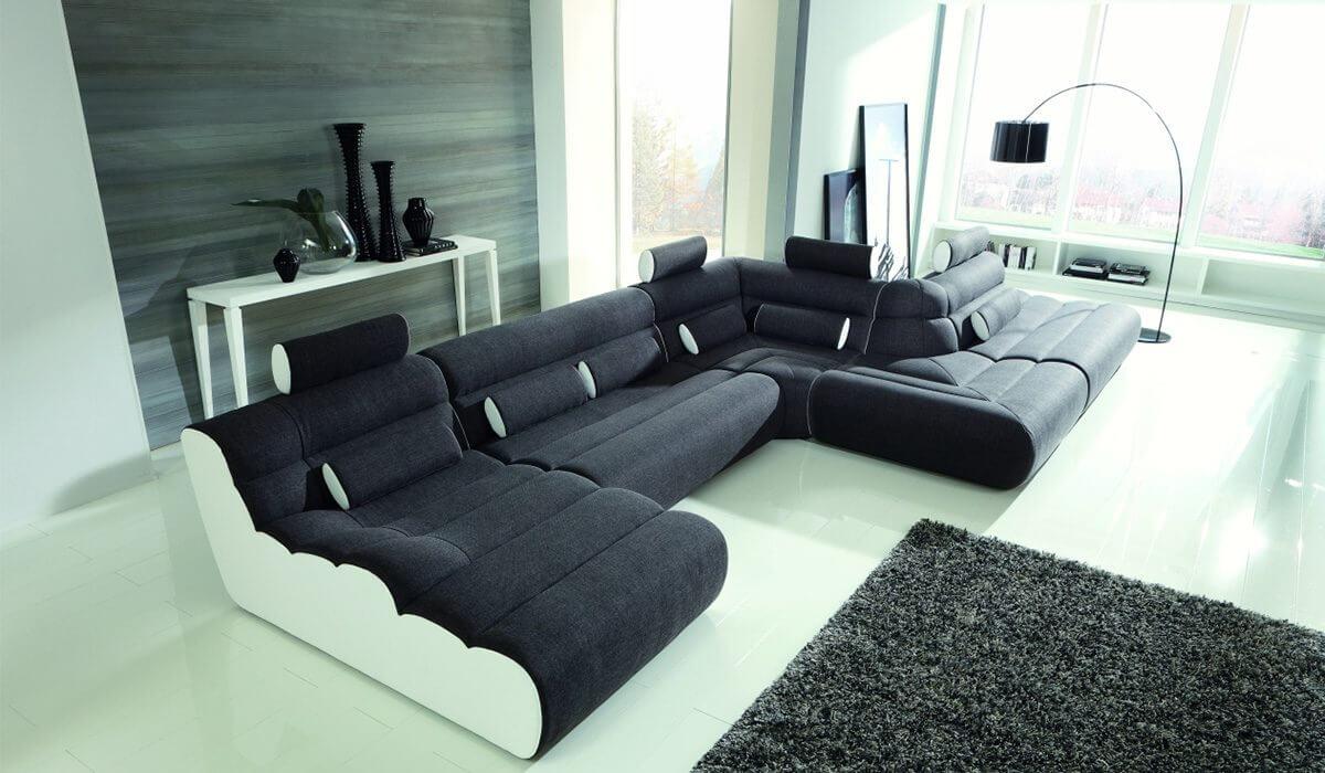 модульный диван в интерьере фото