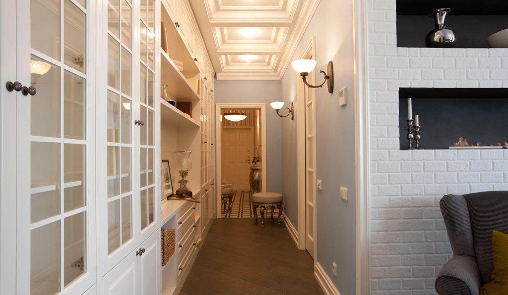 разноуровневое освещение для коридора