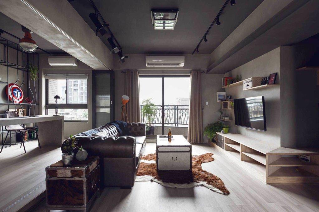 лофт дизайн для просторной квартиры-студии фото