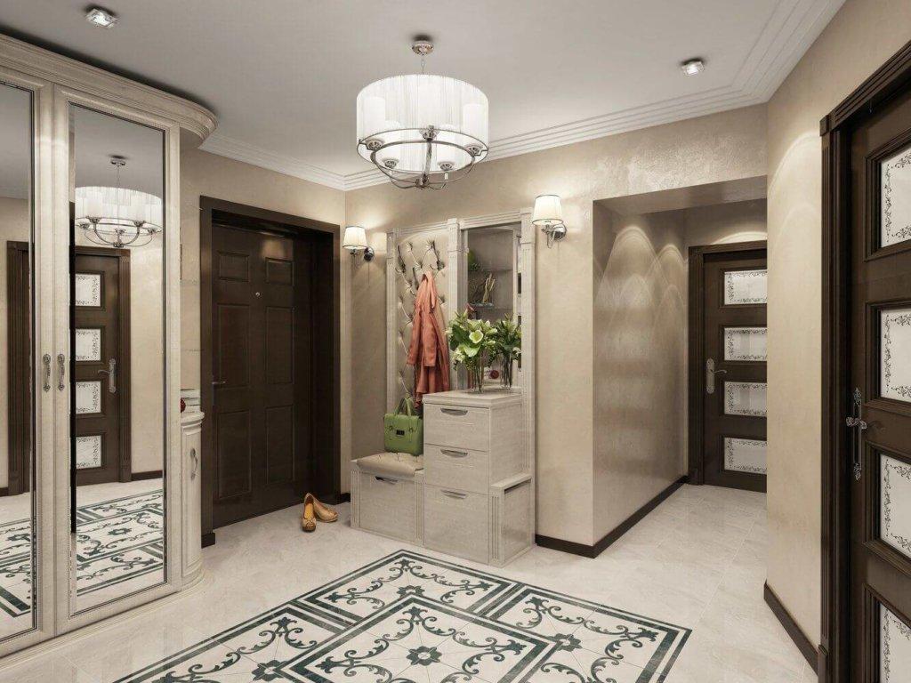 зеркала в дизайне интерьера коридора