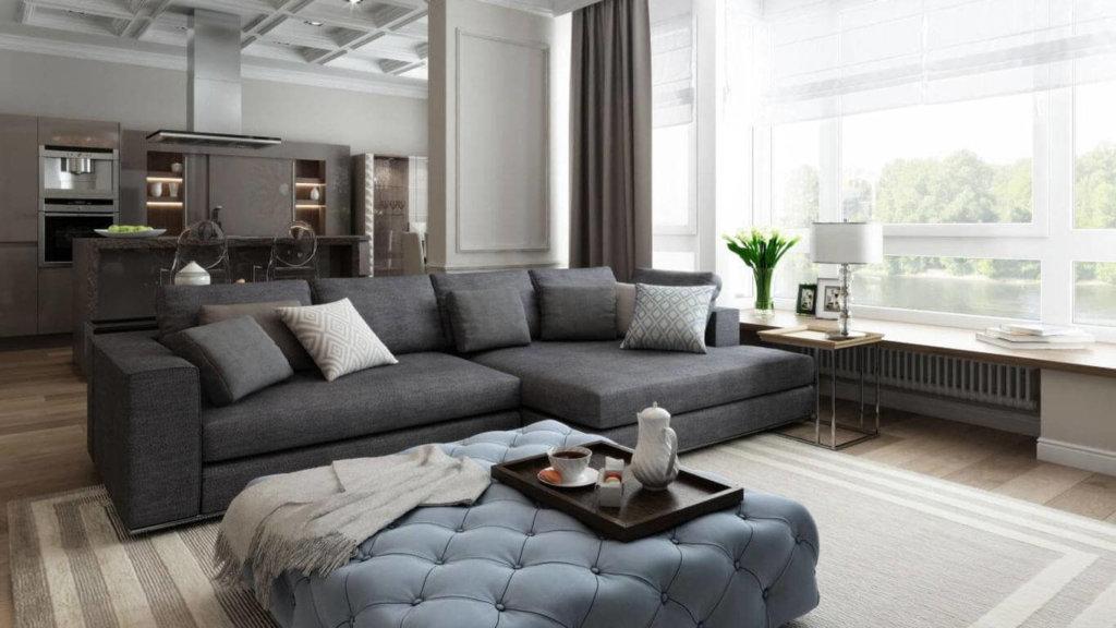 дизайн интерьера для просторной квартиры студии 150 кв м фото