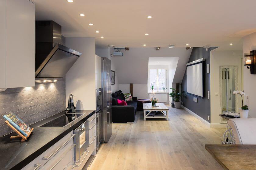 дизайн освещения для квартиры студии фото