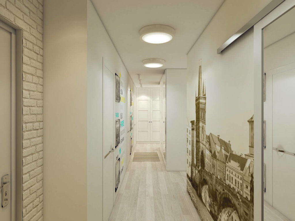 роспись на стене в коридоре