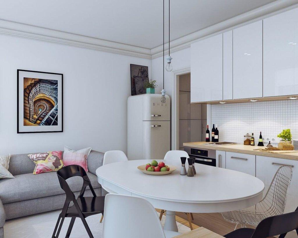 кухня-студия в дизайне интерьера фото