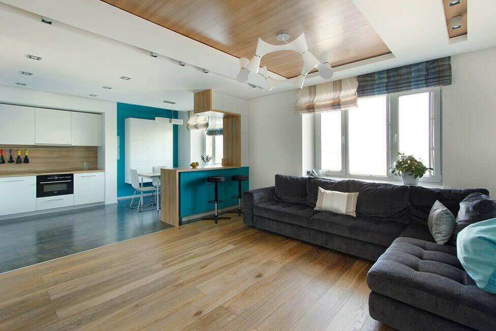 зонирование квартиры-студии фото